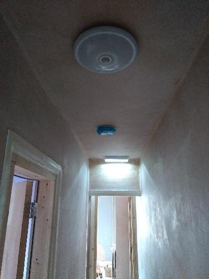 Landing PIR light, Emergency light and interlinked smoke detector