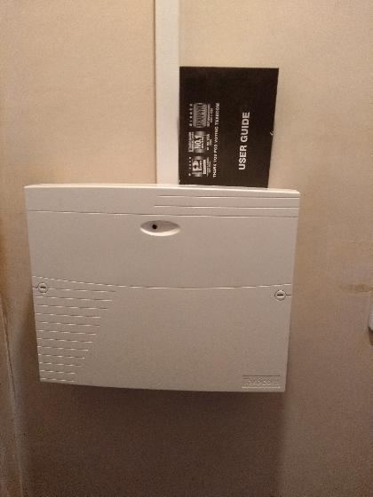 Wired intruder Alarm main control panel.